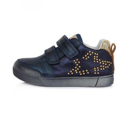Dievčenské prechodné kožené topánky -Royal Blue