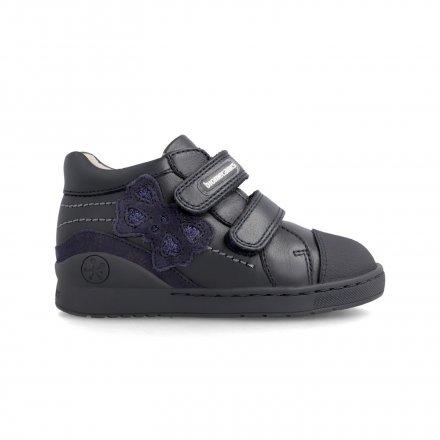 Dievčenské kožené prechodné kotníkové topánky