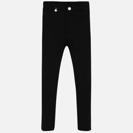 Dievčenské zateplené nohavice s nastaviteľným pásom