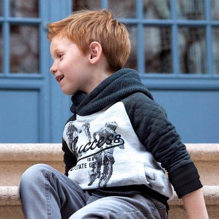 Chlapčenská kombinovaná mikina s kapucňou