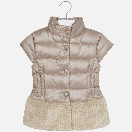 Dievčenská kombinovaná vesta bez kapucne