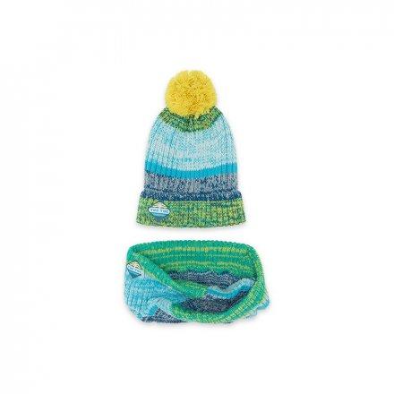 Farebná čiapka a šál pre chlapcov