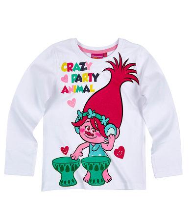 Dievčenské tričko Trollovia s dlhým rukávom