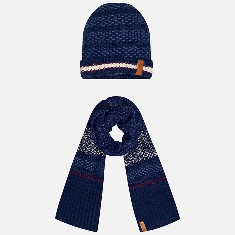 Chlapčenský set- čiapka a šál
