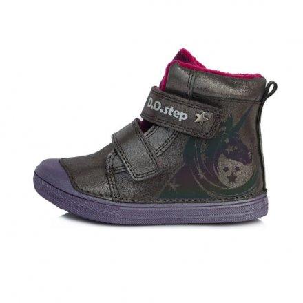 Dievčenské zimné topánky zateplené s kožušinkou-Dark Grey
