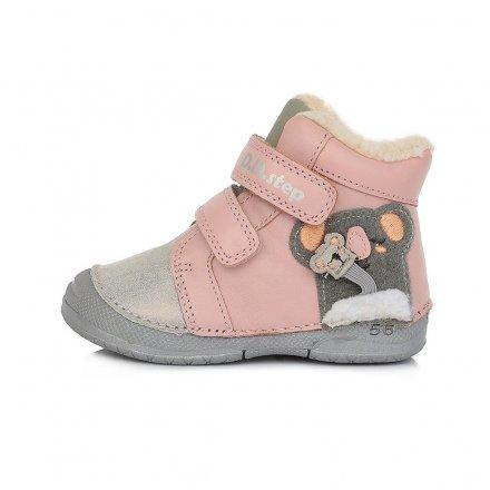 Dievčenské zimné topánky zateplené s kožušinkou-baby Pink