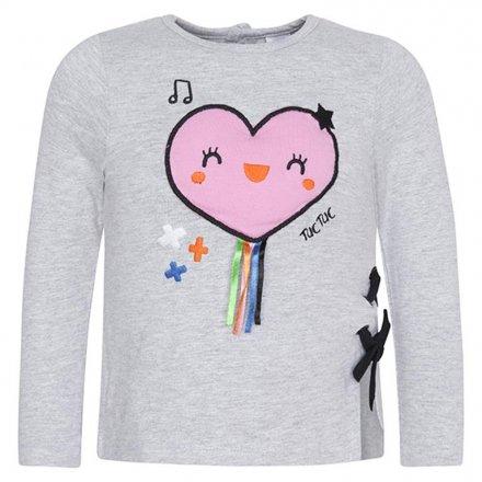Dievčenské tričko s dlhým rukávom a s milou ozdobou