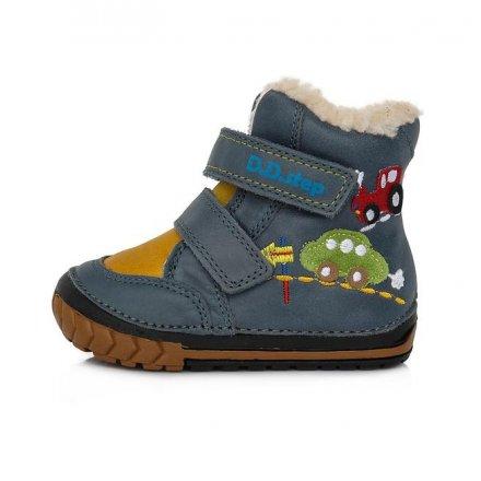 Chlapčenské zimné topánky zateplené s kožušinkouBermuda Blue