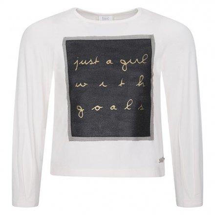 Dievčenské tričko s dlhým rukávom a s tylovým motívom