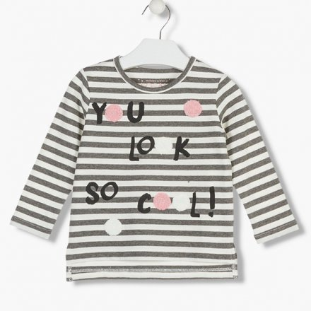 Dievčenské tričko s dlhým rukávom