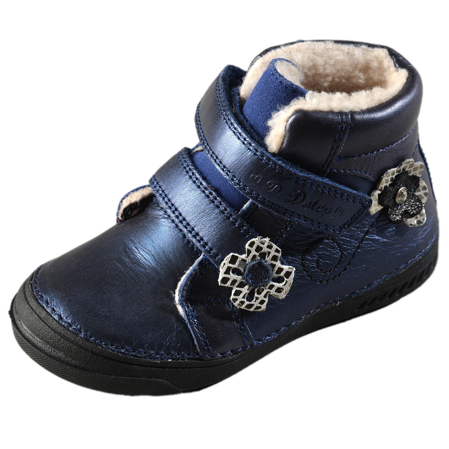 Dievčenské zimné topánky zateplené s kožušinkou DDstep - 040-401BL ... a5b9678cd7a