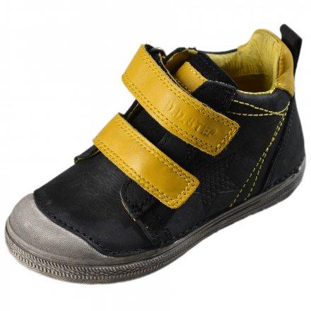 Chlapčenské kožené kotníkové topánky-Black