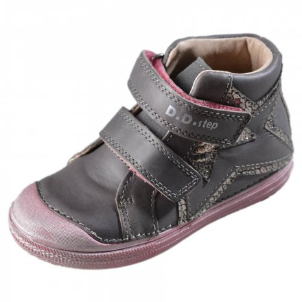 Dievčenská kožená kotníková obuv