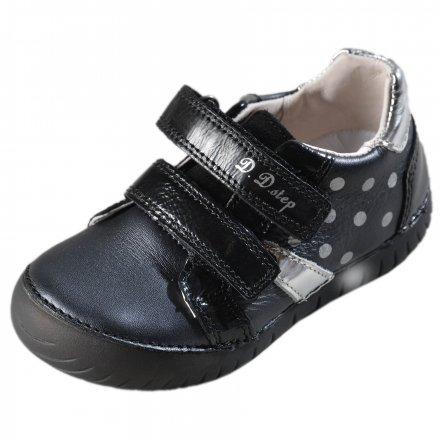 Dievčenské kožené blikajúce topánky-Black