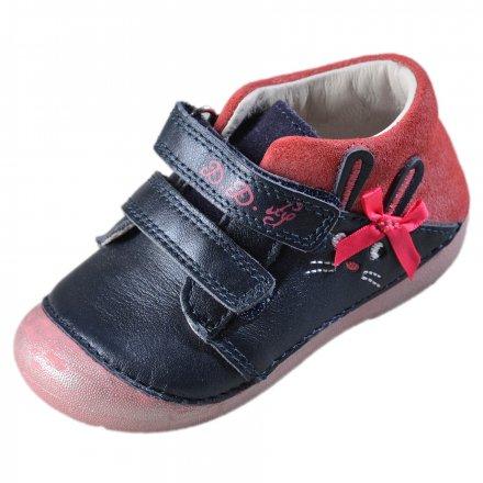 Dievčenské kožené prechodné topánky-Royal Blue