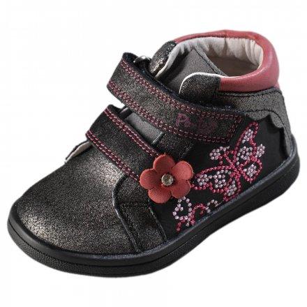 Dievčenské kožené prechodné topánky-PONTE
