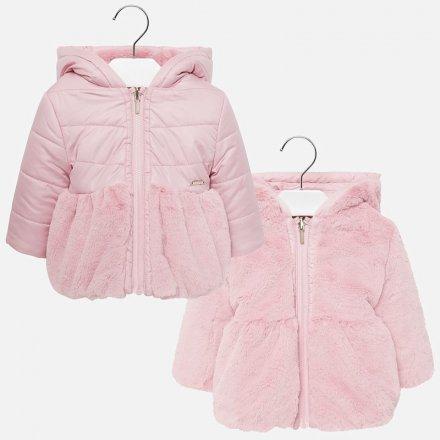 Dievčenská obojstranná bunda s kapucňou