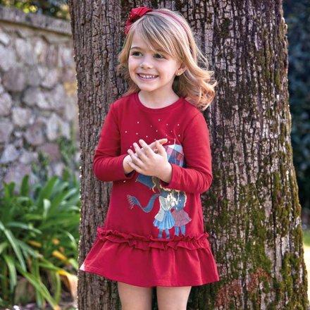 Dievčenské šaty s dlhým rukávom a skamienkami