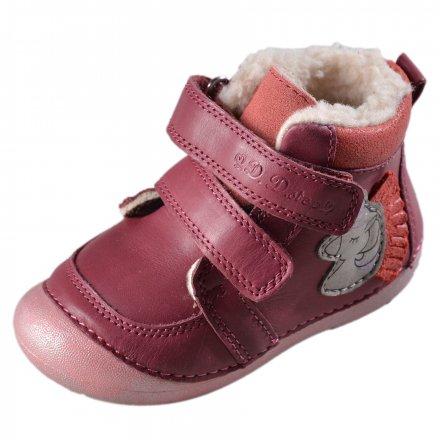 Dievčenské zimné topánky zateplené s kožušinkou-Red