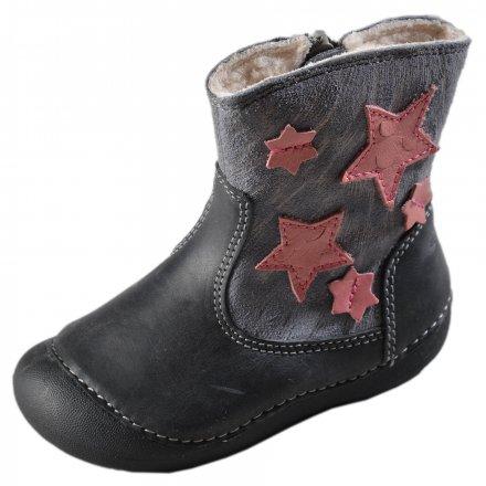 Dievčenské zimné topánky zateplené s kožušinkou-Grey