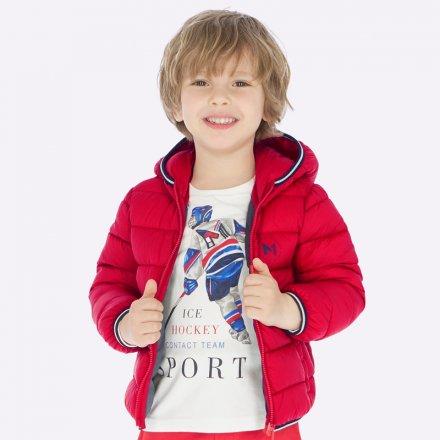 Chlapčenská vatovaná bunda s kapucňou