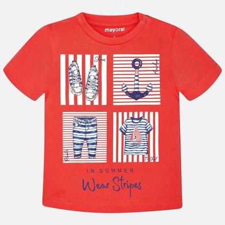 Chlapčenské tričko s krátkym rukávom a s námorníckou potlačou