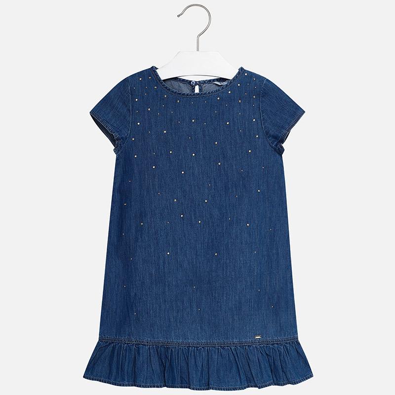 cddca256bcf1 Letné riflové šaty zdobené so štrasom Mayoral - 06942-005 ...
