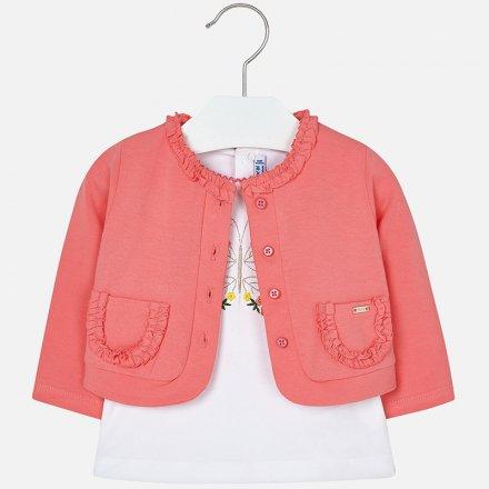Dievčenská letná súprava vyšívané tričko s bolerkom