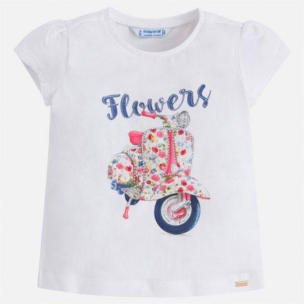 Dievčenské letné tričko  s kamienkami