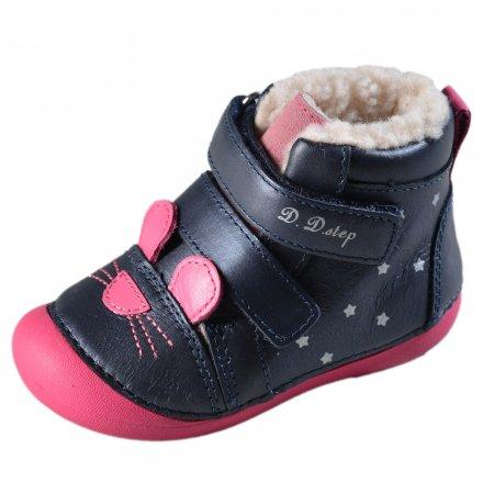 Dievčenské zimné topánky zateplené s kožušinkou-Royal Blue
