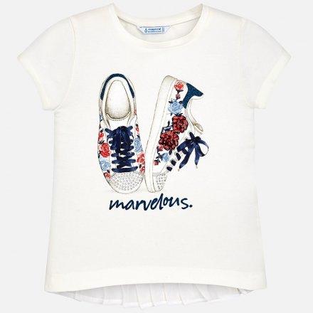 Dievčenské elegantné tričko s krátkym rukávom