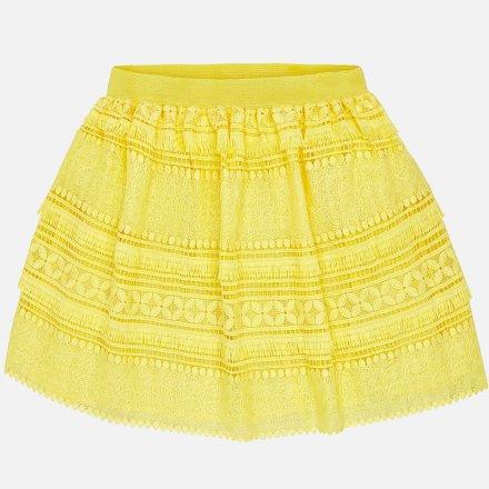 Letná sukňa v žltej farbe