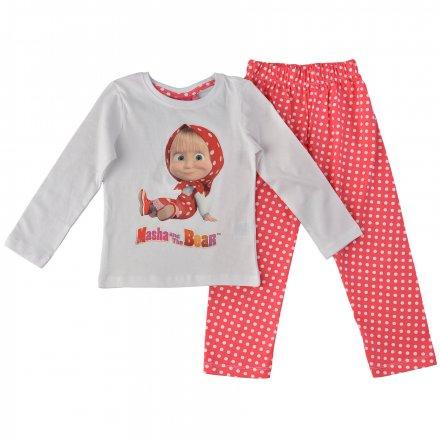 Dievčenské pyžamo Máša a medveď