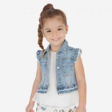 Dievčenská riflová vesta