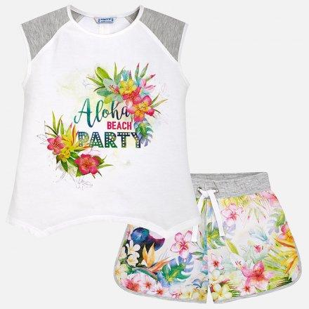 Dievčenská letná súprava s farebným vzorom
