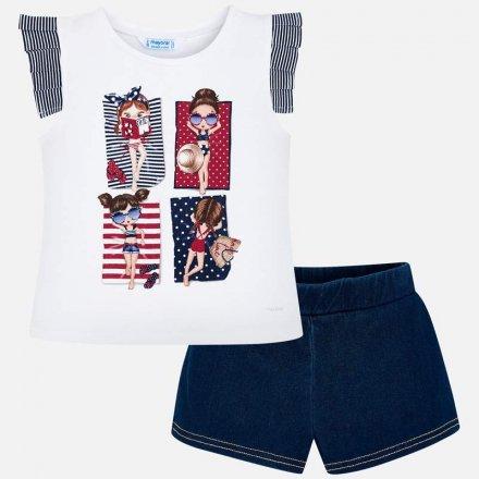Dievčenská letná súprava tričko a krátke nohavice