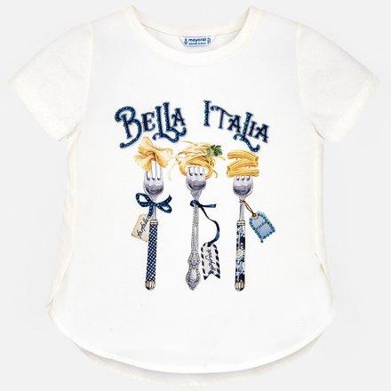 Dievčenské tričko s krátkym rukávom zdobená  štrasom