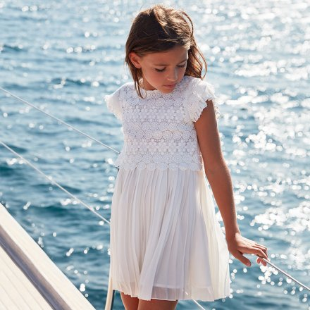 Dievčenské plisované príležitostné  šaty