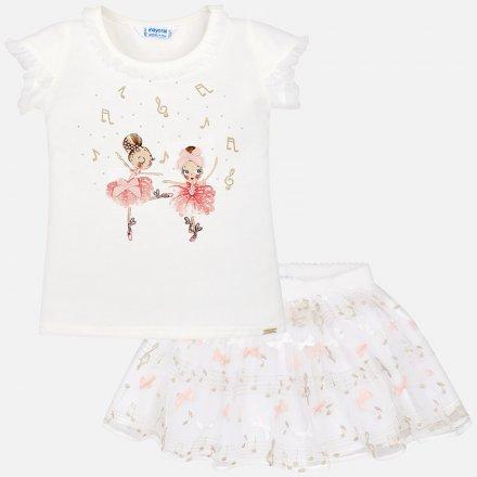 Dievčenská letná súprava tylová sukňa a tričko