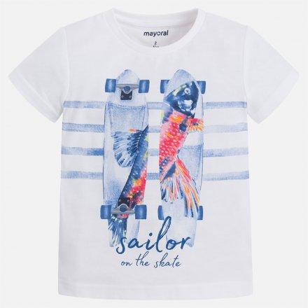 Chlapčenské tričko s krátkym rukávom a s farebnou potlačou