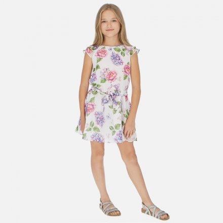 Dievčenské kvetinkové letné šaty