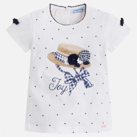 Dievčenské tričko s krátkym rukávom s aplikáciami