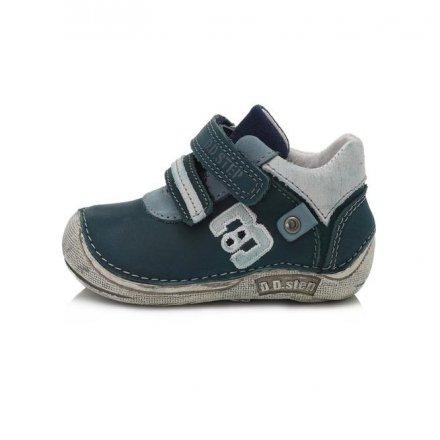 Chlapčenské kožené prechodné BAREFOOT topánky-Royal Blue