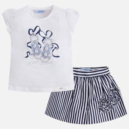 Dievčenská letná súprava tričko a sukňa