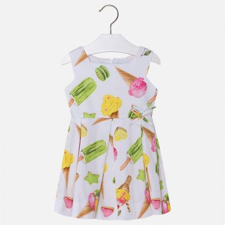 Džersejové šaty bez rukávov s letným motívom