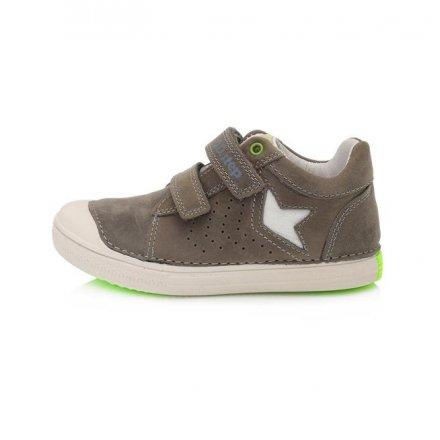 Chlapčenské kožené prechodné topánky-Khaki