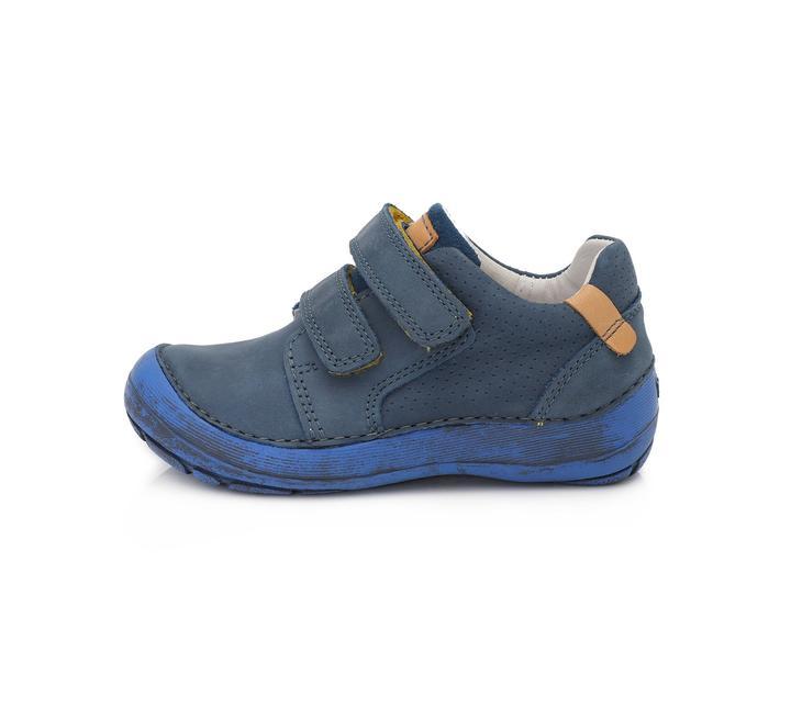 Chlapčenské kožené prechodné BAREFOOT topánky-Bermuda  Blue