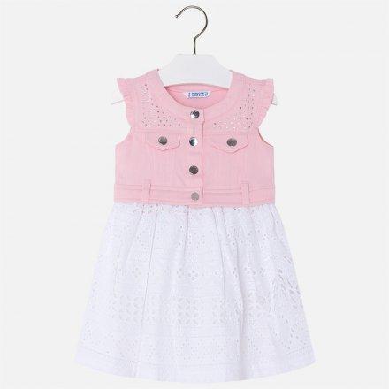 Kombinované letné šaty bez rukávov a s čipkovanou sukňou
