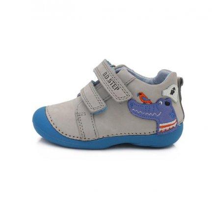 Chlapčenské kožené prechodné topánky-Light grey