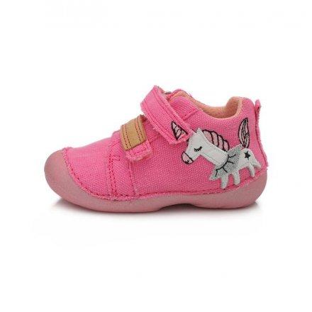Dievčenská plátená obuv-Dark pink